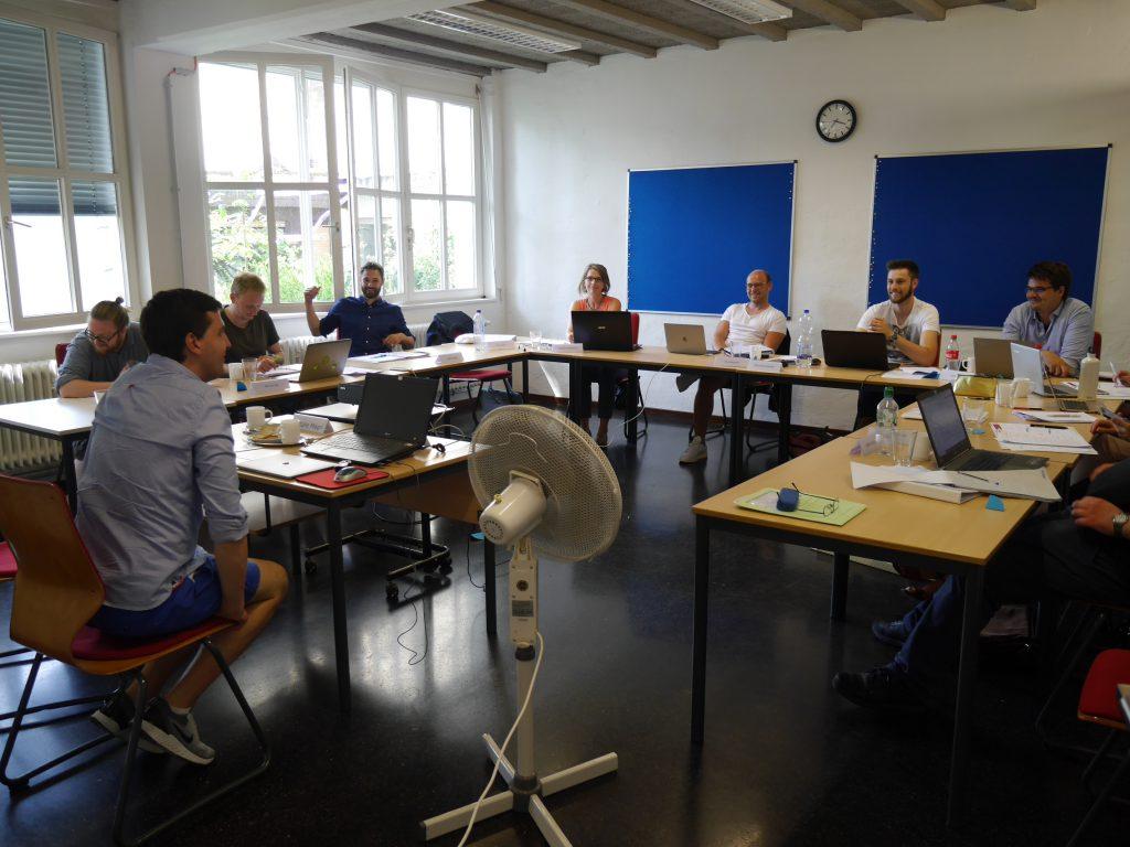 Milan Vukas beim Briefing zur PR-Konzeptentwicklung bei der Initiative Kommunikation am Montag, 1. Juli 2019.